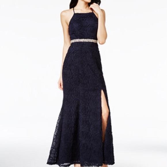 Trixxi Dresses | Navy Blue Prom Dress | Poshmark